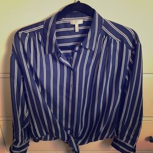 Joie SILK blouse with cute tie in front